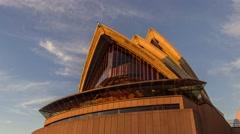 Sydney Opera House sunrise hyperlapse, motion timelapse in 4k Stock Footage