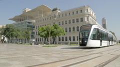 VLT Carioca (Light Rail) - Mauá Square - Rio de Janeiro - Brazil Stock Footage
