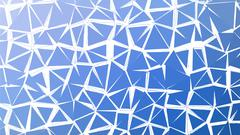 Abstract blue vector gradient lowploly of many triangles background for use in - stock illustration