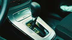 Switching the Automatic Transmission Stick Stock Footage