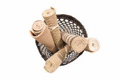 Carpet in basket - stock photo
