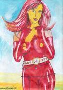 Lady Dynamite Stock Illustration