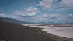 Dust Devil Alvord Desert Lakebed Dynamic Time Lapse, Steens Mountain Oregon Area Stock Footage