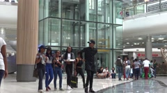 Hundreds of Shoppers Walk Through the Mall of Africa in Johannesburg Arkistovideo