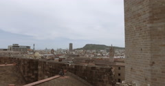 Observation deck at rooftop of cathedral - stock footage