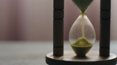 Hourglass filling up with sand Stock Footage