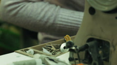 The work of the sewing machine Stock Footage