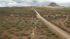 High Angle Drone of US border fence Arizona/Mexico Arkistovideo