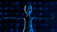 3D Animation of an Alien Stock Footage