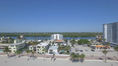 Aerial footage of Hollywood beach. Florida, USA Stock Footage