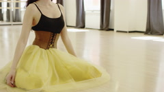 beautiful girl wearing  dancing costume with corset - stock footage