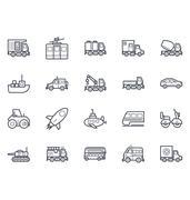 Transport Illustration Set - stock illustration