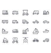 Transport Illustration Icons Pack - stock illustration
