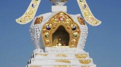 Holy places to worship the spirits. Stupas in Buryatia. Siberia. Russia. Stock Footage
