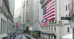 New York Stock Exchange Wall Street Sign New York 4k Stock Video Stock Footage