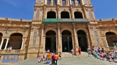 Plaza de Espana building Stock Footage
