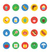 Vector Food Icons Set - stock illustration