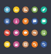 Glyphs Style Icons Stock Illustration