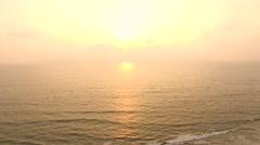 Orange Sunset on the sea in India, GOA - stock footage