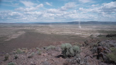 Dust Devil Alvord Desert Lakebed Dynamic Time Lapse, Steens Mountain Oregon Area - stock footage