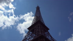 Replica of the Eiffel Tower on a Sky Background Stock Footage