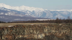 Snowy mountains. Sayan mountains. Siberia. Russian Federation. - stock footage