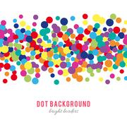 Colorful abstract dot background - stock illustration