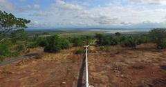 Africa Aerial Ghana wide landscape pipe 4K Stock Footage