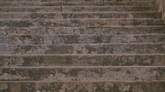 Stone staircase of the Villa in Italy Stock Footage