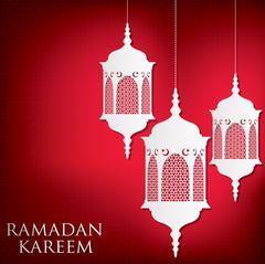 "Lantern ""Ramadan Kareem"" (Generous Ramadan) card in vector format. Stock Illustration"