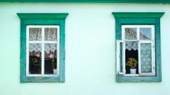 Windows of country house - stock footage