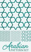 Arabian weave pattern set in vector format. Stock Illustration