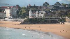Santander Northern Spain city coastline sunny day summer Stock Footage