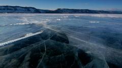 Drifting Snow Above Lake Baikal Ice Seamless Loop Stock Footage
