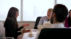 Business colleagues discussing in a meeting at conference room. Stock Footage