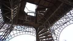 Ladder at the Base of a Metal Tower Stock Footage