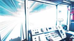 Subway Train Cockpit Seamless Loop Footage Stock Footage