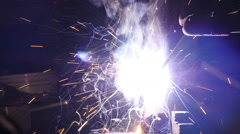 Welding Sparks Slow Motion Seamless Loop Stock Footage
