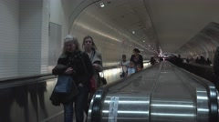 ULTRA HD 4K,Transfer point with a lot of commuter people at Paris Stock Footage