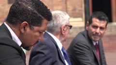Business Men Talking On Cell Phones - stock footage