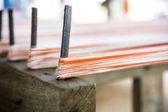Cotton, Thread for weaving Stock Photos