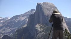 Half Dome photographer, Yosemite National Park Stock Footage