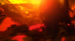 Teapot with whirling black tea Stock Footage