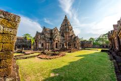 Phanom Rung historical park is Castle Rock old Architecture about a thousand  - stock photo