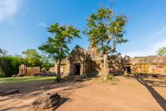 Phanom Rung historical park is Castle Rock old Architecture about a thousand  Stock Photos