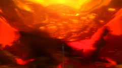 Tea leaves spinning in teapot - stock footage