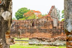 The Palace was built by King Narai, the king who ruled Ayutthaya from 1656 to - stock photo