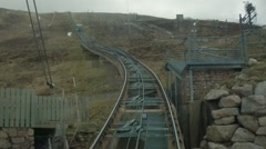 Funicular Railway, Cairngorm national park, Scotland Stock Footage