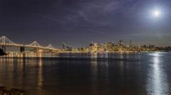 San Francisco city view from Treasure Island Stock Footage