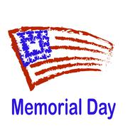 Memorial Day American Flag Background. Stock Illustration